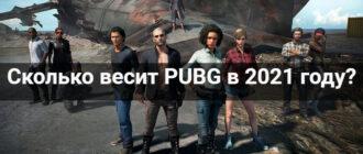 Сколько весит PUBG