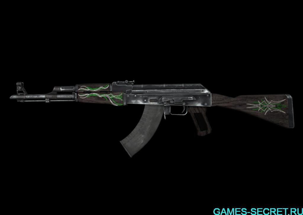 AK-47   Изумрудные завитки кс го